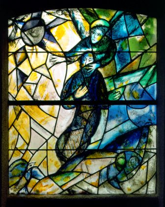 The calling of Isaiah by Chagall