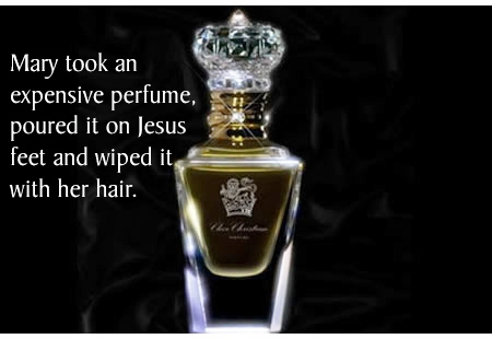Jesus is anointed with perfume